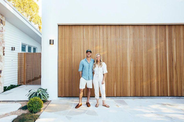 Kyal & Kara outside Delta Garage Door