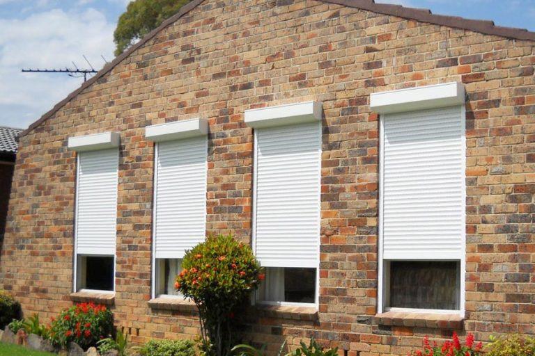 Row of Domestic Window Shutters