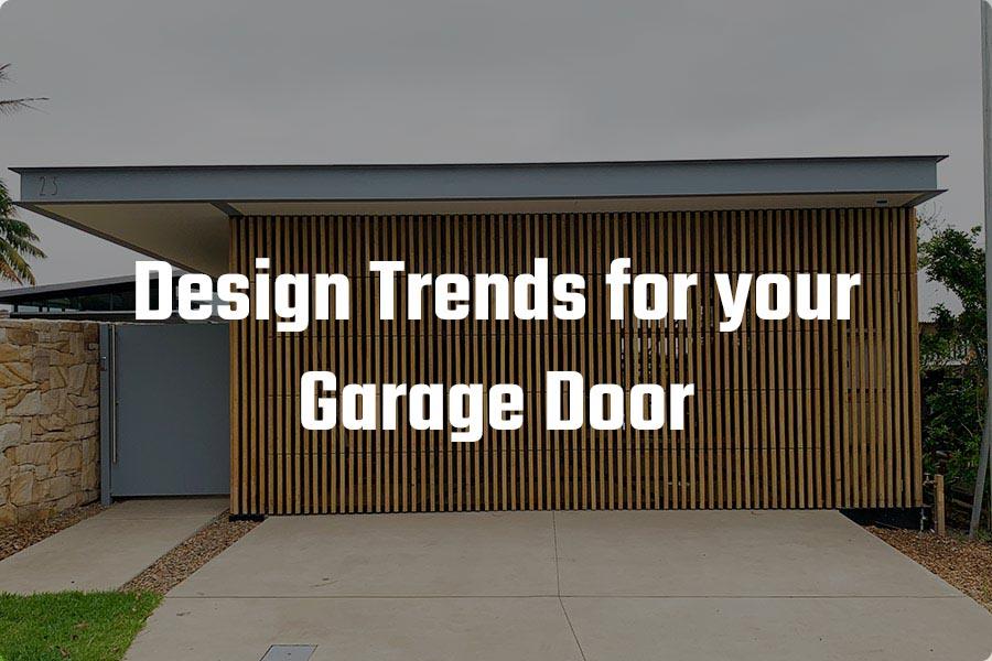 Garage Door Design Trends