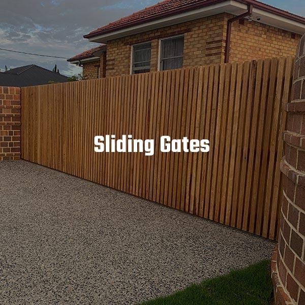 Sliding Automatic Timber Gate