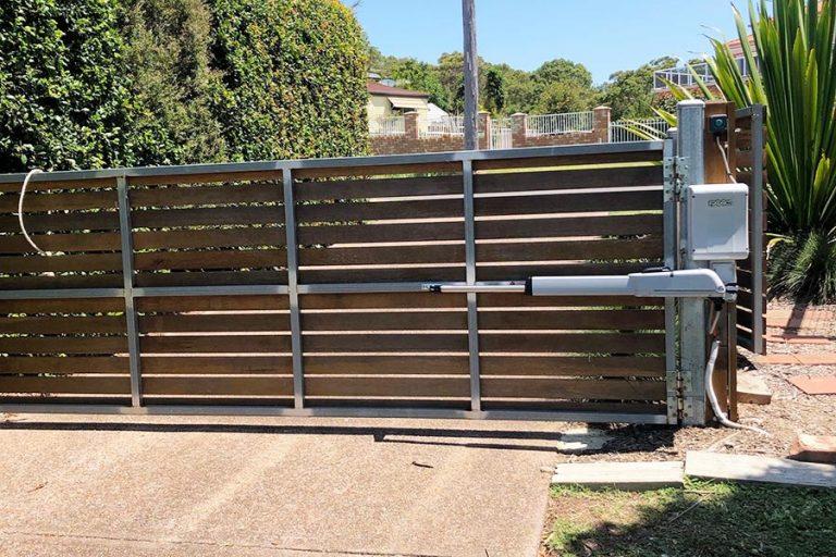Timber Automatic Swing Gate
