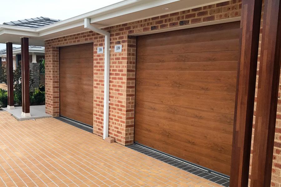 Two Gliderol Panel Doors - Timber Look